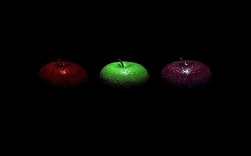 Apples black wallpaper
